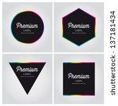 Premium Label Icon Sign Symbol...