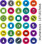 white solid icon set  towel... | Shutterstock .eps vector #1371815666