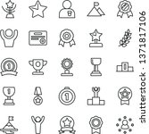 thin line vector icon set  ...   Shutterstock .eps vector #1371817106