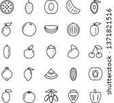 thin line vector icon set  ... | Shutterstock .eps vector #1371821516