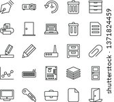 thin line vector icon set  ... | Shutterstock .eps vector #1371824459