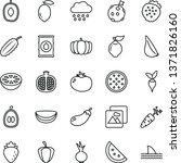 thin line vector icon set  ... | Shutterstock .eps vector #1371826160