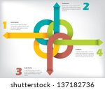 infographic design with arrow... | Shutterstock .eps vector #137182736