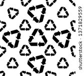 recycle icon sign seamless... | Shutterstock .eps vector #1371829559
