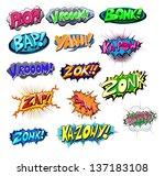 explosive funny comic... | Shutterstock .eps vector #137183108