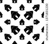 hut icon seamless pattern ... | Shutterstock .eps vector #1371831230
