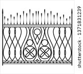 wrought iron gate  ornamental... | Shutterstock .eps vector #1371831239