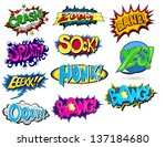 set of comic expression vector | Shutterstock .eps vector #137184680