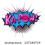 ka pow   comic expression... | Shutterstock .eps vector #137184719