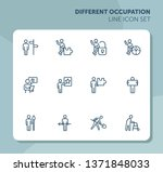 different occupation line icon... | Shutterstock .eps vector #1371848033