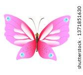 beautiful pink butterflies... | Shutterstock .eps vector #1371851630