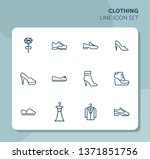 clothing line icon set. set of... | Shutterstock .eps vector #1371851756