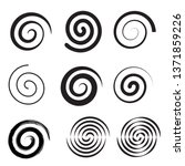 spiral collection. set of... | Shutterstock .eps vector #1371859226