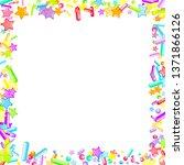 sprinkles grainy. cupcake... | Shutterstock .eps vector #1371866126