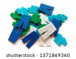 white felt pants  blue felt... | Shutterstock . vector #1371869360