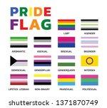 pride flags variations color set | Shutterstock .eps vector #1371870749