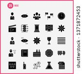 mix solid glyph icons set for...