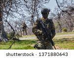 armed soldier ready for battle. ...   Shutterstock . vector #1371880643