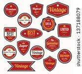 set of  retro vintage badges... | Shutterstock .eps vector #137188079