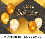 black and gold background with... | Shutterstock .eps vector #1371883490