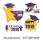 academic hat happy graduation... | Shutterstock .eps vector #1371897029