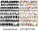 isolated  set of people in... | Shutterstock .eps vector #1371897740