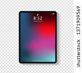 realistic tablet computer lock... | Shutterstock .eps vector #1371909569