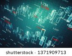 creative glowing forex chart...   Shutterstock . vector #1371909713