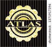 atlas golden emblem | Shutterstock .eps vector #1371917396