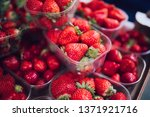 fresh juicy strawberries in... | Shutterstock . vector #1371921716