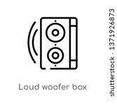outline loud woofer box vector... | Shutterstock .eps vector #1371926873