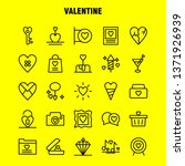 valentine line icon pack for...