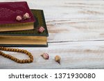 koran and rosary beads  for... | Shutterstock . vector #1371930080