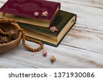 koran and rosary beads  for... | Shutterstock . vector #1371930086