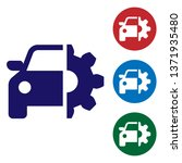 blue car service icon isolated... | Shutterstock .eps vector #1371935480