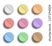 pills | Shutterstock .eps vector #137194004