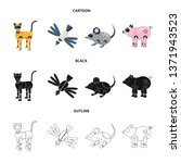 vector design of toy and... | Shutterstock .eps vector #1371943523