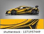 car decal wrap design vector.... | Shutterstock .eps vector #1371957449