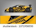 car decal wrap design vector.... | Shutterstock .eps vector #1371958550