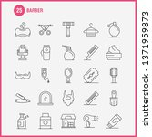barber line icons set for...