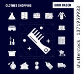 clothes shopping solid glyph...
