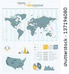 travel infographic elements.... | Shutterstock .eps vector #137196080