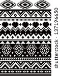seamless black and white ethnic ... | Shutterstock .eps vector #137196650