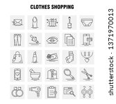 clothes shopping line icon for... | Shutterstock .eps vector #1371970013