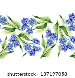 forget me not flowers seamless... | Shutterstock . vector #137197058