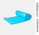 yoga mat icon. cartoon... | Shutterstock .eps vector #1371990863