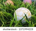 easter eggs in grass....   Shutterstock . vector #1371994223