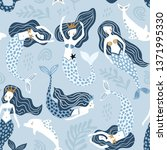 seamless pattern with creative... | Shutterstock .eps vector #1371995330