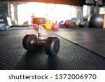 dumbbell weight training... | Shutterstock . vector #1372006970