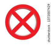 3d red prohibition sign...   Shutterstock .eps vector #1372007429